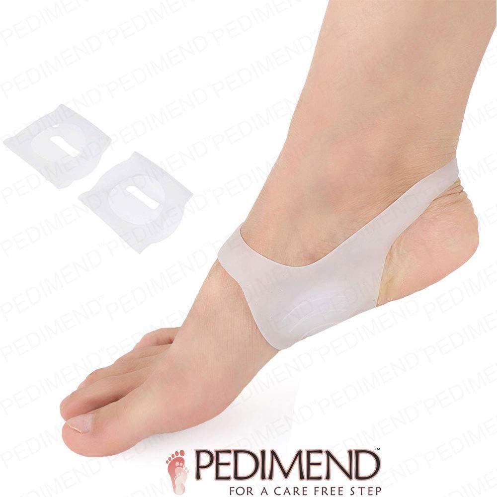 Knock-Knees Plantillas correctoras de gel de silicona para talón mediano y lateral, de Pedimend - mejores plantillas ortopédicas correctivas para calzado ayudan a la alineación de los pies (1 par)