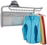 Safco Products 4604GR Impromptu Coat Wall Rack with Hangers, Gray