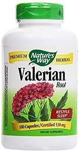 Nature's Way Valerian Root, (Gelatin) Capsules 180 ea