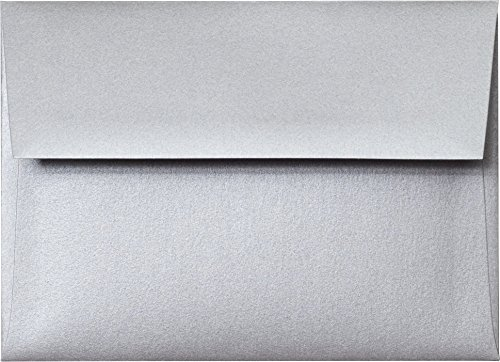 (A-7 Envelope - Silver Shimmery Metallic Envelope (5.25 x 7.25) - 50 Envelopes from Paper and)