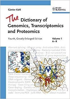 Book The Dictionary of Genomics, Transcriptomics and Proteomics