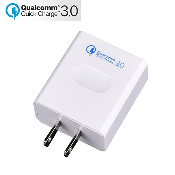 Tiamat Travel Charger Quick Charge 3 0 Adapter Fast Charging Wall Charger  (Quick Charge 2 0 Compatible) for Samsung Galaxy S9/S8+/Note8, LG G6/V30,