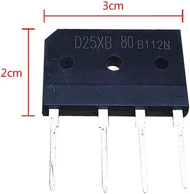 Fefaxi 5 ST/ÜCKE D25XB80 25A 800V Herd Gleichrichterbr/ücke NEU