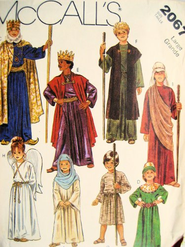 1980s Character Costumes (McCall's 2067 Nativity, Christmas Story, Pageant Sewing Pattern Childs Size Large (12-14) Vintage 1980s)