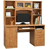 Landon Desk with Hutch, Oak