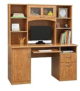 Landon Desk with Hutch, Oak