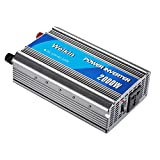 WEIKIN power inverter 2000 Watt DC 12V to AC 220V Car Volt Converter (2000W, DC 12V to AC 220V) for home use