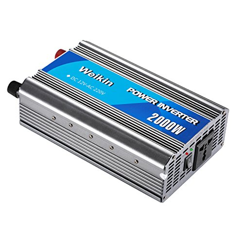 (WEIKIN power inverter 2000 Watt DC 12V to AC 220V Car Volt Converter (2000W, DC 12V to AC 220V) for home)
