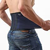Back Support Lower Back Brace - provides Back Pain Relief - Breathable Lumbar Support keeps your Spine Straight and Safe - Medium size Belt for Men and Women