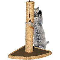 Scratching Post Cat Scratcher Pole Hemp Rope Pet Scratch Pillar with Cat Hanging Toy for Satisfing Cat's Natural…