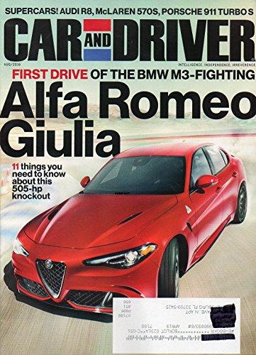 (Car and Driver Magazine 2016 FIRST DRIVE OF THE BMW M3-FIGHTING 2017 Alfa Romeo Giulia)