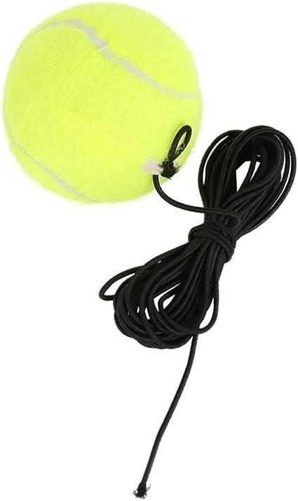 Kaakaeu Pelota de tenis de entrenamiento de goma elástica para ...