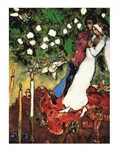 Posters: Marc Chagall Poster Art Print - The Three Candles