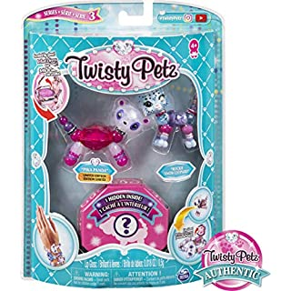 Twisty Petz, Series 3 3-Pack, Pika Panda, Rockie Snow Leopard and Surprise Collectible Bracelet Set for Kids Aged 4 and Up