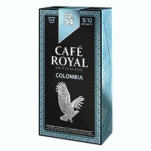 10 capsules Café Royal Single Origin Colombia Capsules compatibles Systeme Nespresso
