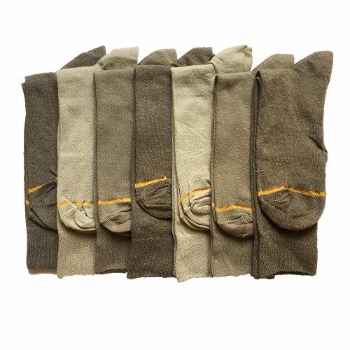 GOLDTOE Crew Dress Sock 7 Pairs SignatureGold Fashion Mult-Style (Style 3)