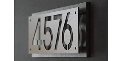 Amazon Com Showlit Numbers Address Plaque Modern Minimalist Custom