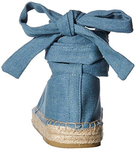 azul Bailarinas Mujer Denim Qupid de Alpargata Blue claro Planas para Light Bailarina Uxx0tqYw