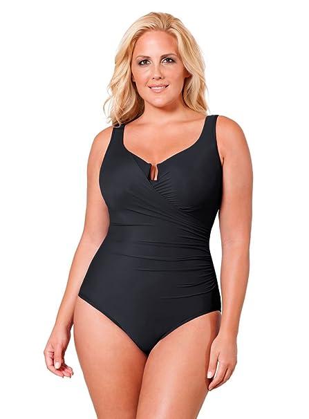 Amazon.com: Traje de baño Miraclesuit para mujer, talla ...