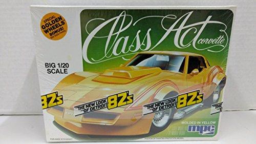 (MPC 1-3752 Class Act 1982 Corvette 1:20 Scale Plastic Model Kit - Requires)