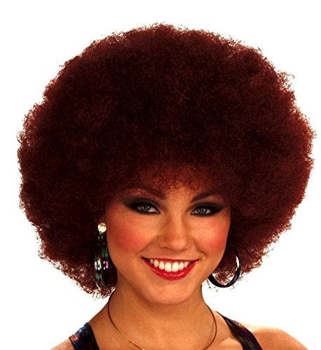 Forum Novelties Women's 70's Disco Doll Afro Wig, Auburn, One (Seventies Costumes For Men)