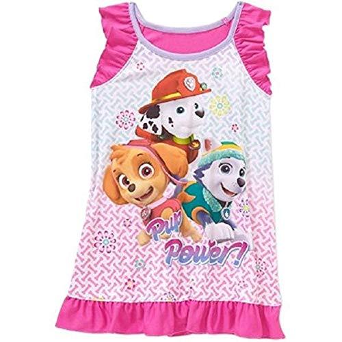 Paw Patrol Toddler Poly Nightgown Pajamas (Pink, 5T)