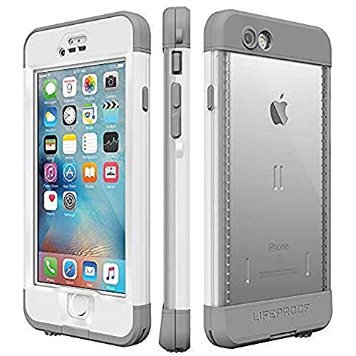 Lifeproof NÜÜD SERIES iPhone 6s Plus ONLY Waterproof Case - Retail Packaging - AVALANCHE (BRIGHT WHITE/COOL GREY)