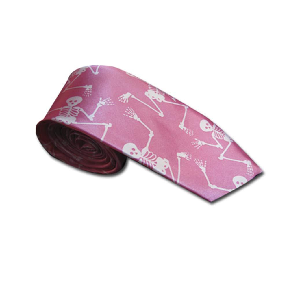 Black Sugar estrella calavera hueso pico rayas Corbata de color rosa y negro fina cuadrada de tela de ara/ña d/ólar azul morado cuadro tart/án rojo pirata disfraz