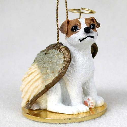 Brown Angel Dog Ornament - 7