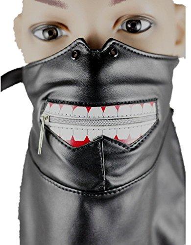 Qiu ping Men and women-style new ghoul mask Gothic headscarf punk teeth zipper mask by Qiu ping