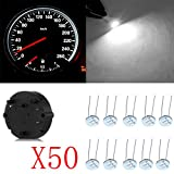 cciyu 50x 27.589 Stepper Motor Gauge Instrument Cluster Repair Kit w/10pcs 4.7mm 3-3014-smd Mini Bulbs White