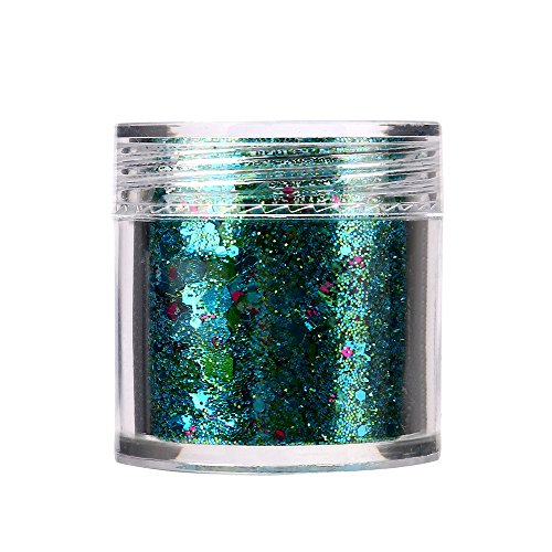 12 Colors Shimmer Loose Sequins Powder Face Body Glitter Palette Nail Art Makeup]()