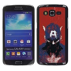 Exotic-Star ( Captain A Drawing ) Fundas Cover Cubre Hard Case Cover para Samsung Galaxy Grand 2 II / SM-G7102 / SM-G7105