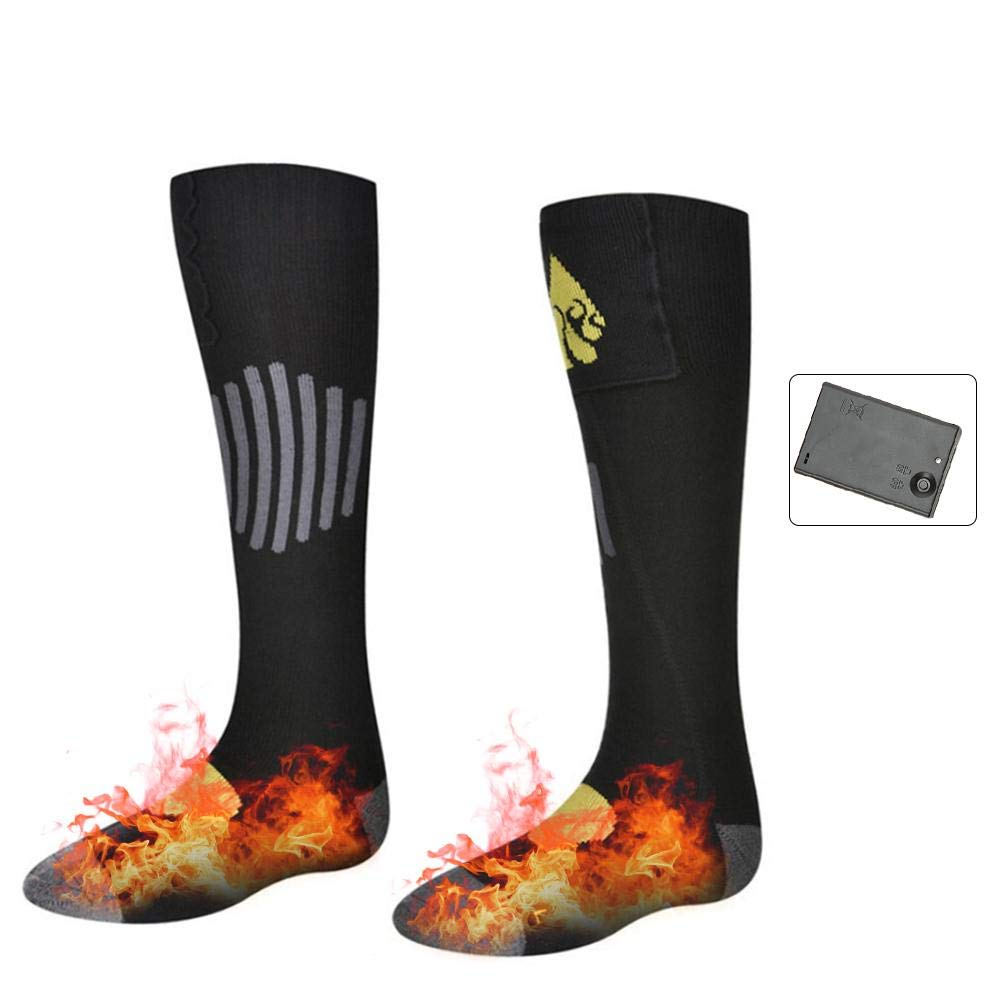 Jannyshop Electric Heated Socks Cotton Washable Application 5-6 Hours Chronically Cold Feet Warmer for Winter Outdoor Acitive