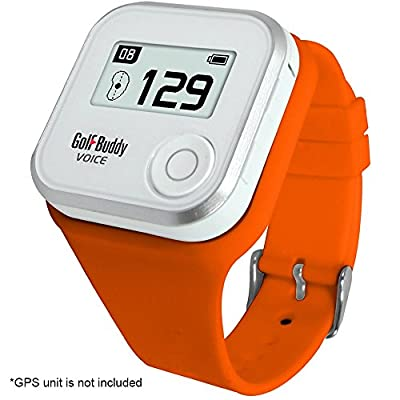 Wristband for GolfBuddy GPS Rangefinder Voice, Small, Orange by Deca International, Inc.