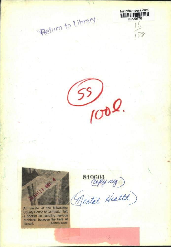 Amazon com: Vintage Photos 1981 Press Photo Inmate at