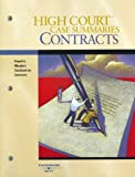 High Court Case Summaries on Contracts, West Publishing Company Staff, 0314159991