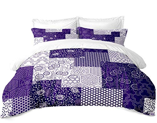 M/X Bohemian Geometric Figure Bedding Set Multicolor Colorful Flower Pattern Duvet Cover Single Double Bed Queen Bed Cover Pillowcase Bedding Home Decoration 3 Piece Set