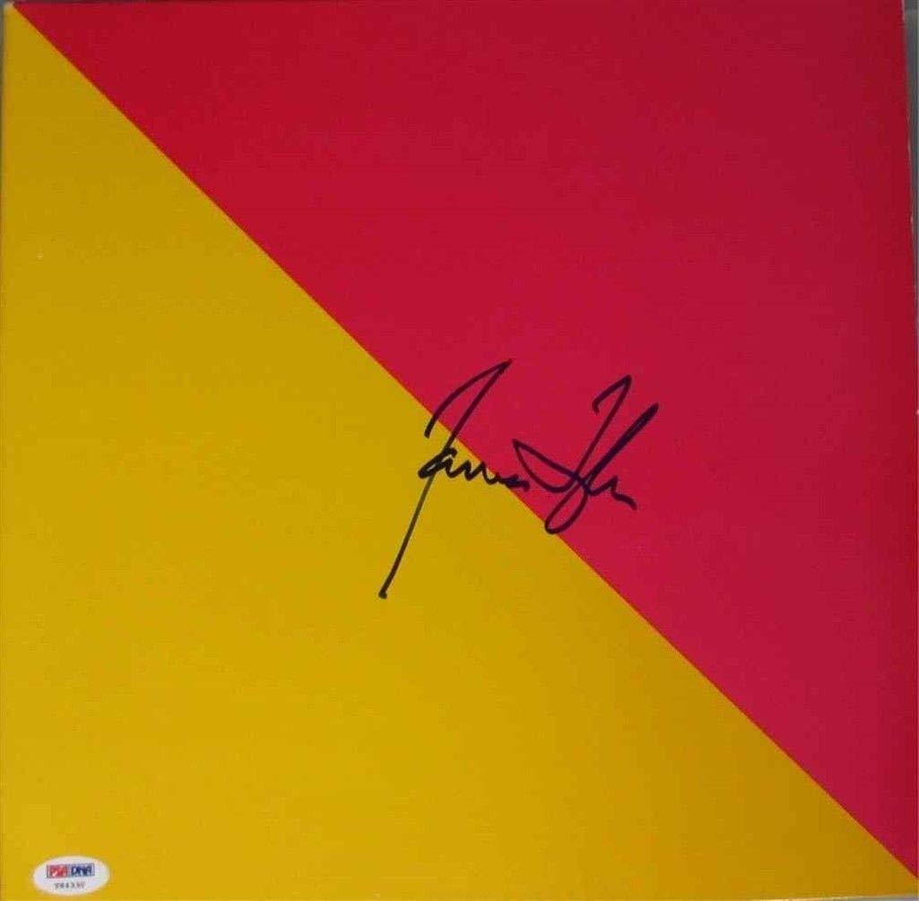 James Taylor Flag Autographed Signed Album Lp Record Certified PSA/DNA Authentic