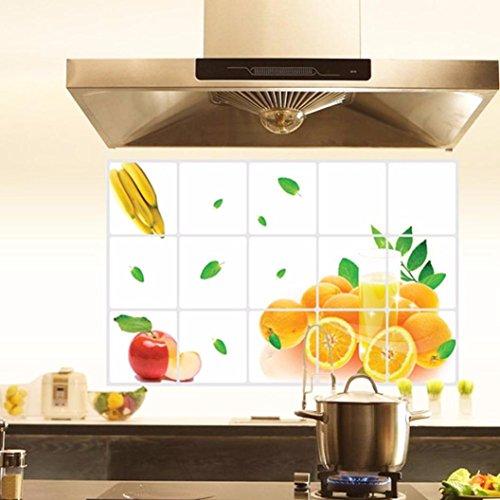 Binmer(TM)Kitchen Oilproof Removable Wall Stickers Aluminum foil Room Art Mural Home Decor (E)