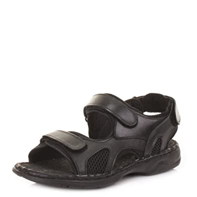 1b8517539e4 Mens Real Leather Outdoor Summer Sandals  Amazon.co.uk  Shoes   Bags