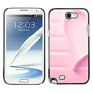 LOVE FOR Samsung Note 2 N7100 Heart Cancer Love Awareness Personalized Design Custom DIY Case Cover