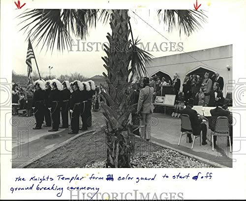 Vintage Photos 1984 Press Photo Houston Knights Templar at New Temple on N. Braeswood