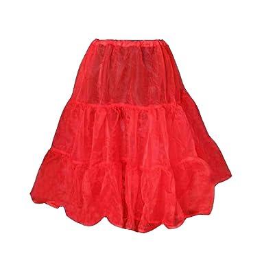 1950 es 1828, 8 cm s rojo enagua Petticoat tufarada falda Rock and ...