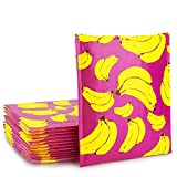 Fu Global Bubble Mailers Upgrade Opaque Poly Padded Envelopes Pack of 25 (Banana, 8.5x12)