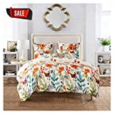 Colorful King Size Comforter Sets Elephant Soft King Bedding Duvet Cover Set, Premium Microfiber,Colourful Floral Pattern On Comforter Cover-3pcs:1x Duvet Cover 2X Pillowcases with Zipper Closure (King)