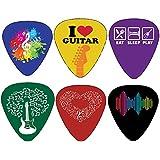 Creanoso Cool Guitar Picks Set (12-Pack) - Medium Gauge Celluloid - Stocking Stuffers Guitar Gifts for Men Women Teens Kids - for Acoustic, Electric and Bass Guitars