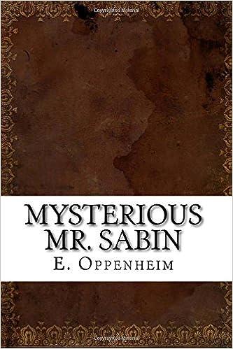 Ilmaiset tietokoneet lataamista varten Mysterious Mr. Sabin PDF MOBI 1535464526