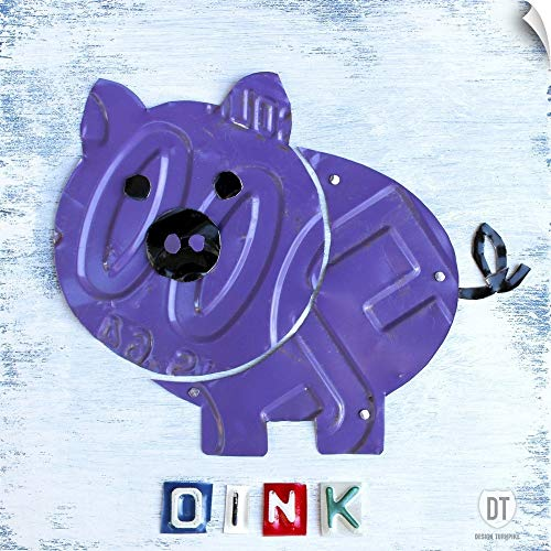 CANVAS ON DEMAND Oink The Pig Wall Peel Art Print, 10