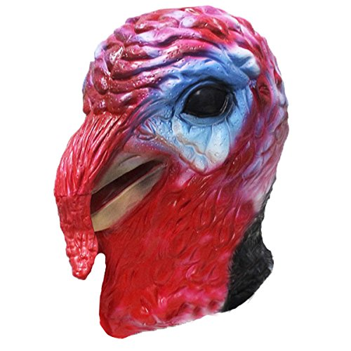 Turkey Bird Rooster Chicken Latex Animal Full Head Mask Masquerade Toy Adult Mask Halloween Costume Party Toy]()